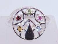Кольцо СЕРЕБРО 925 с натуральными камнями