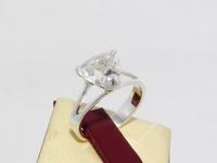 Кольцо СЕРЕБРО 925 с натуральным ГОРНЫМ ХРУСТАЛЕМ