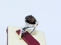 Кольцо СЕРЕБРО 925 с натуральным РАУХТОПАЗОМ