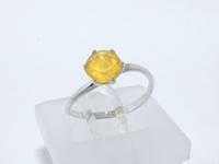 Кольцо СЕРЕБРО 925 с природным, желтым Халцедоном