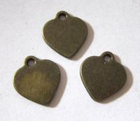 Подвеска сердце 1,5 см (бронза)