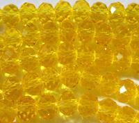 Граненая бусина 8 мм (хрусталь) желтая