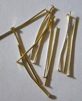 Гвоздики 3 см 10 шт. золотистые