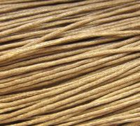 Вощеный шнур 1 мм песочный (1 м)
