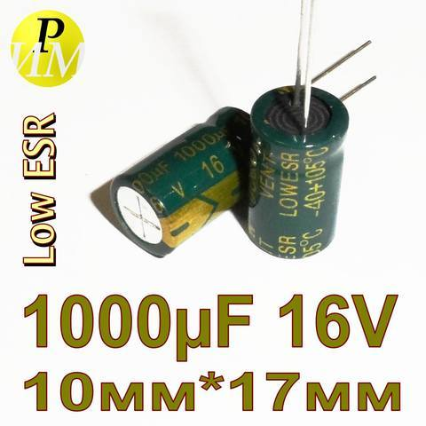 1000mkF-16V 105C 10x17 Low ESR JcCon