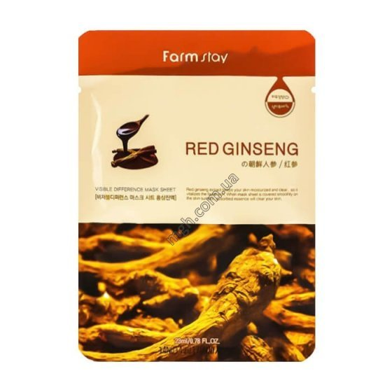 FARM STAY Visible Difference Mask Sheet Red Ginseng  - тканевая маска